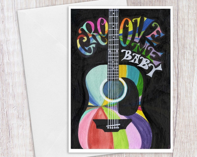 Groove Me Baby | Greeting Card
