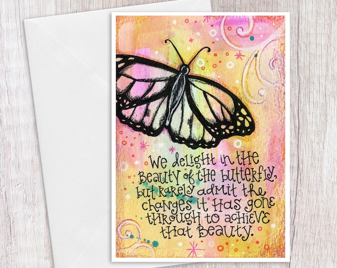 Butterfly Quote | Greeting Card