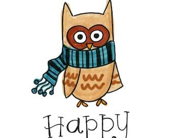 Happy Owlidays | Greeting Card