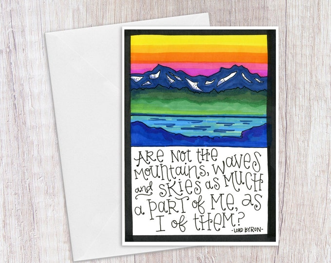 Lord Byron Quote | Greeting Card