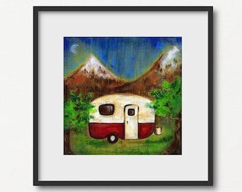 Vintage Camper | Print