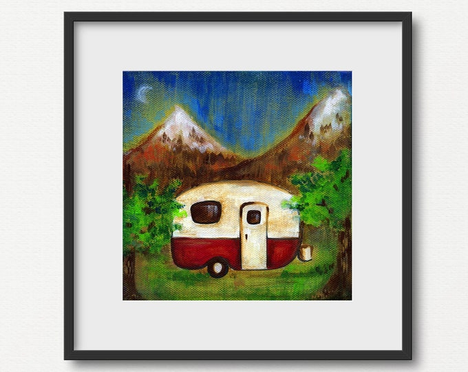 Vintage Camper   Print