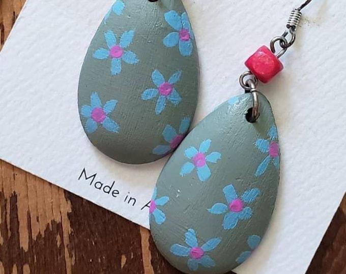 Flower Power | Hand Painted Lightweight Wood Earrings