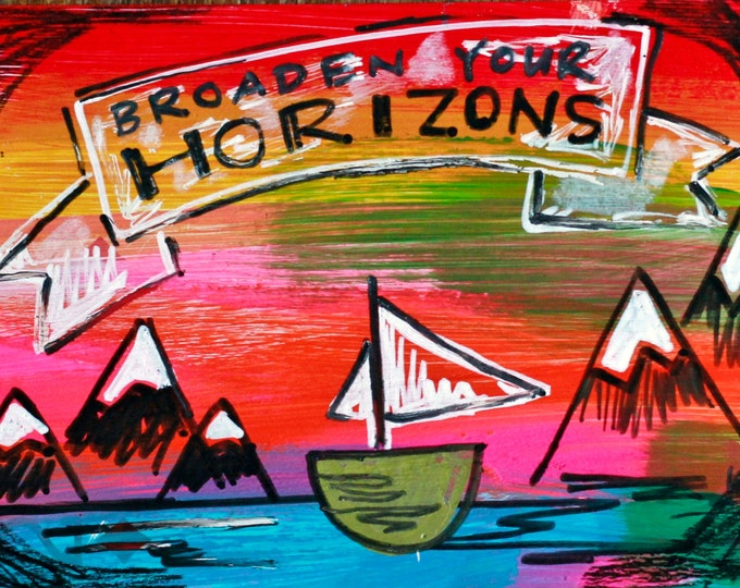 CLEARANCE - Broaden your Horizons  - JUMBO magnet