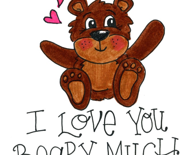 Valentine Card Pack - I Love you Beary Much | 4 Pack