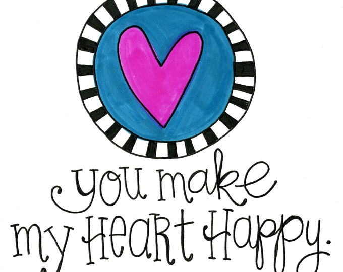 Valentine Card Pack - You Make my Heart Happy | 4 Pack