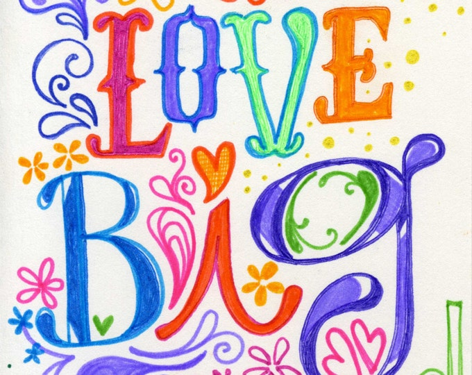 Love Big | JUMBO magnet