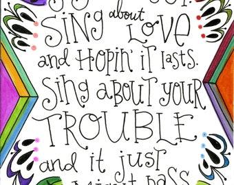 Sing About It | Lyrics Print