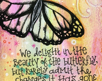 Butterfly Quote | JUMBO magnet