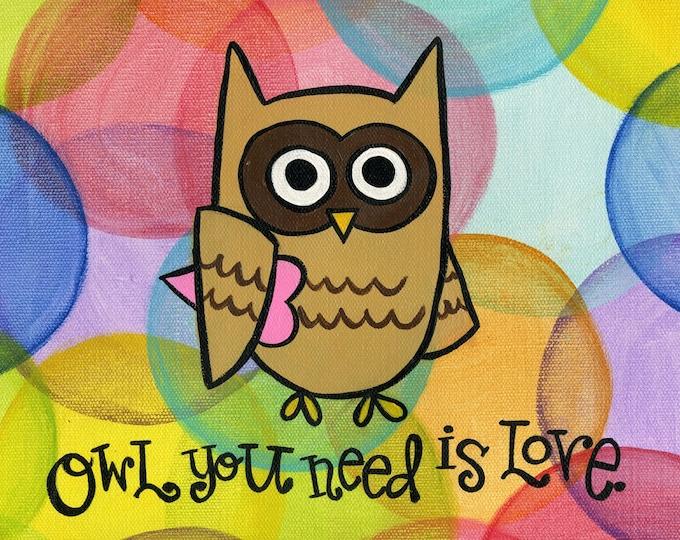 Owl you need is Love | JUMBO magnet