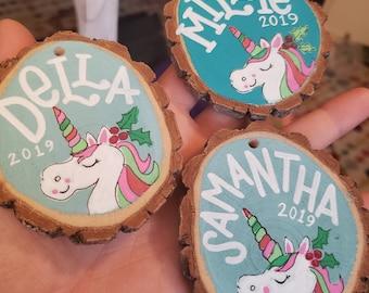 Personalized Handpainted Ornament | Unicorn Design