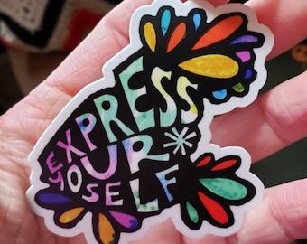 Express Yourself | Vinyl Sticker