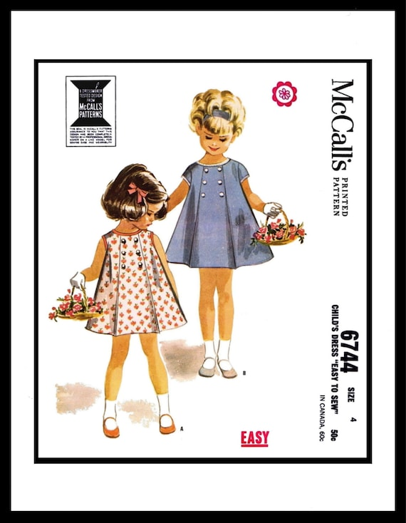 McCall/'s 6748 Sewing Pattern Dress Frock Bloomers Toddler Baby GIRL Child ~1~