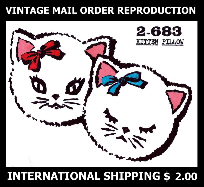 Diseño de correo 2-683 gato gatito gatito juguete peluche | Etsy