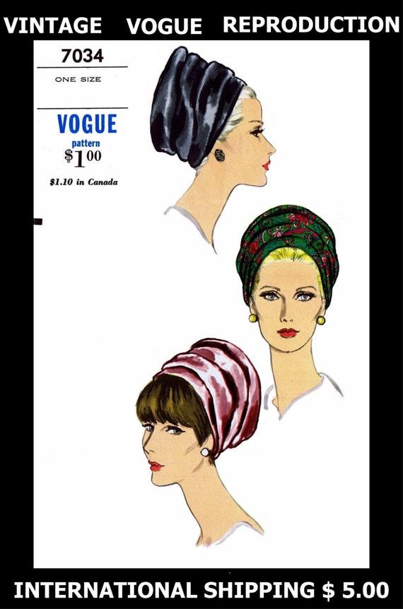 Patrón sombrero turbante 7034 Vintage VOGUE fácil Sexy | Etsy