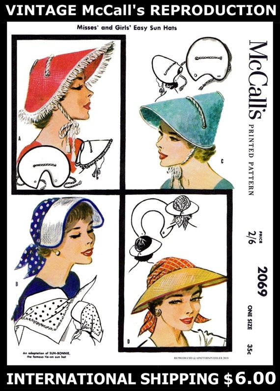 McCall/'s 6307 Designer Lilly Dache HATS Fabric Sewing Pattern Cap Chapeau Chemo