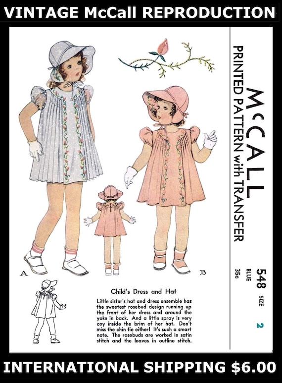 Stift Tuck Kleid Kleid nähen Muster Kleinkind BABY Mütze | Etsy