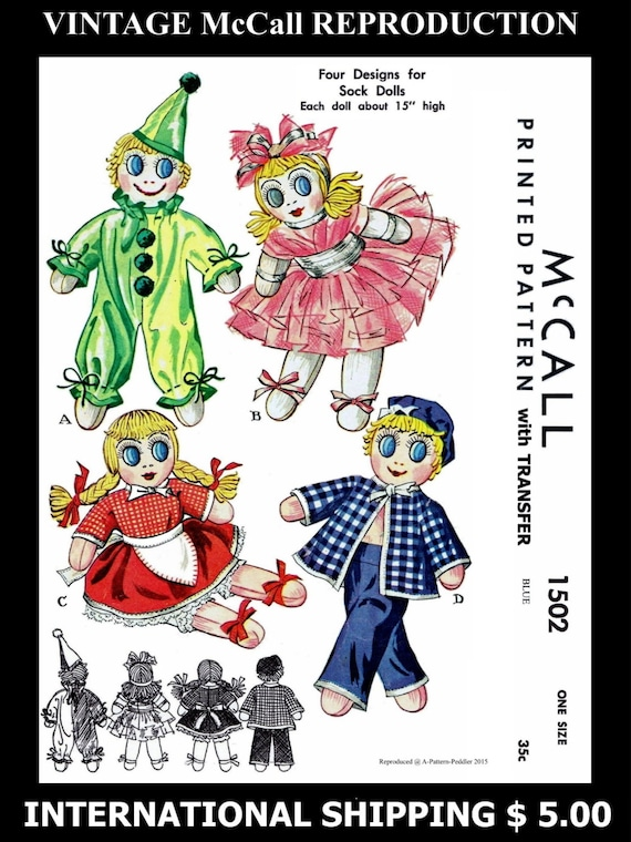 85cf734ae3563 Fabric Material Sewing Pattern McCALL 1502 4 Cute Cuddly