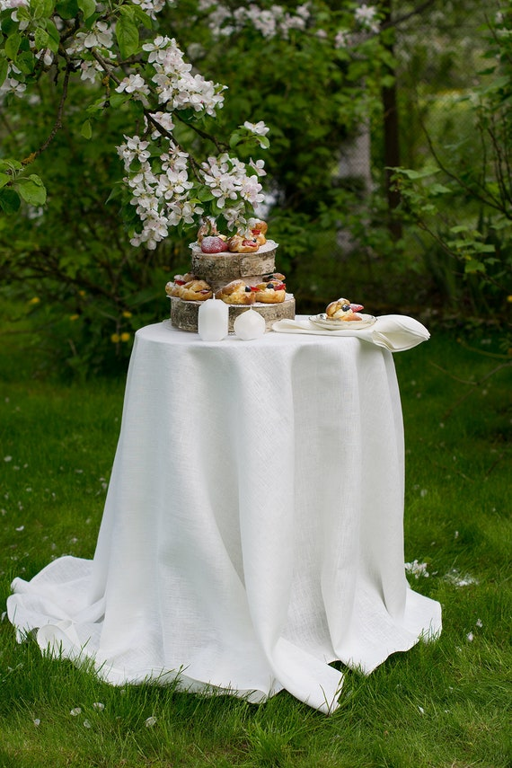 Round Linen Tablecloth Wedding Dinner, Round White Tablecloths For Wedding