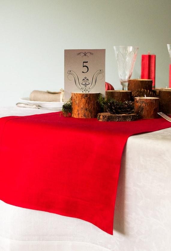 Linen table runner  Linen table decor  Christmas table decor  Zero waste table runner Table linens  Sustainable living  RUNNER #90