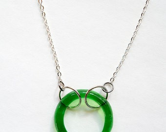 Repurposed Circle Necklace Reclaimed from a Stella Artois Beer Bottle