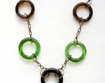 Upcycled Happy Hour Circle Necklace