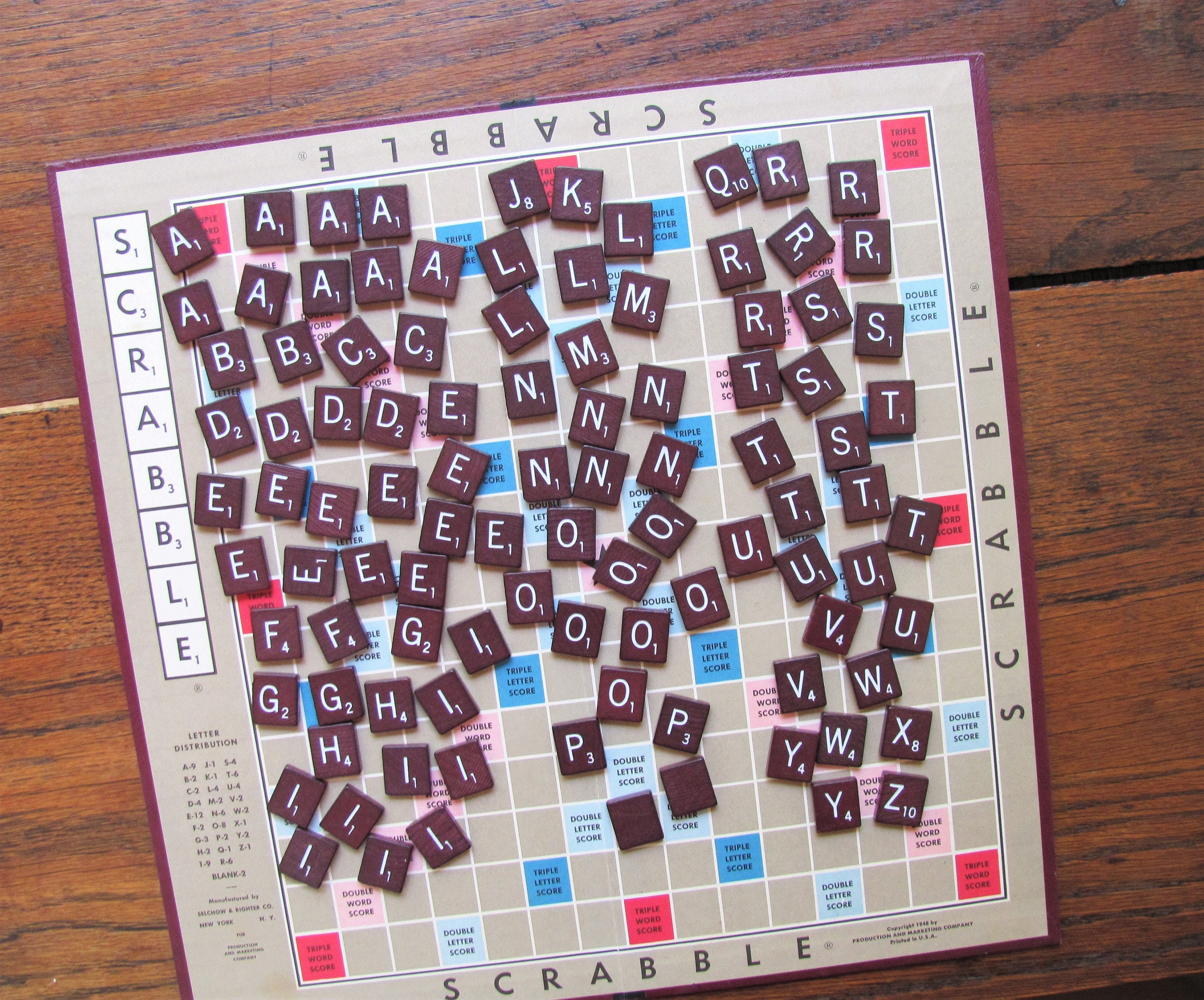Scrabble Tiles Replacement Letter G Maroon Burgundy Wooden Craft Game Part Piece