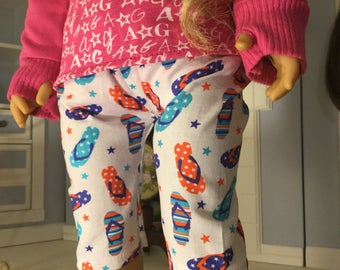 Flip flop capris fits American girl 18in dolls