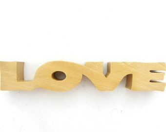 Love Sculpture, Love Letters, Love Art, Love Word, Love Sign, Word Art, Handmade Woodwork, Valentines Day, Engagement Gift, Anniversary Gift