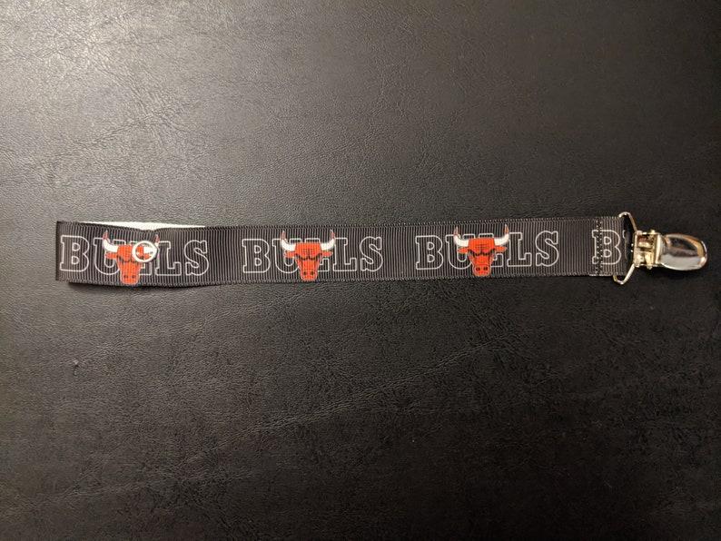 Chicago Bulls Pacifier Clip