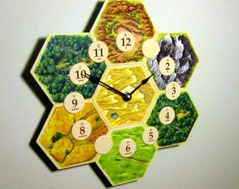 Settlers of Catan Board Game Clock - 4th Edition