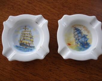 Two Small Ceramic Ashtrays