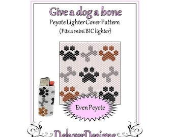 Bead Pattern Peyote(Lighter Cover)-Give a dog a bone