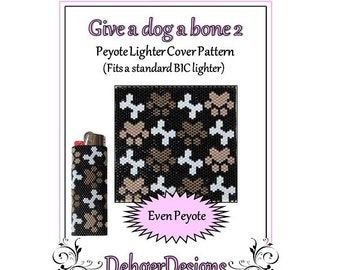 Bead Pattern Peyote(Lighter Cover)-Give a dog a bone 2