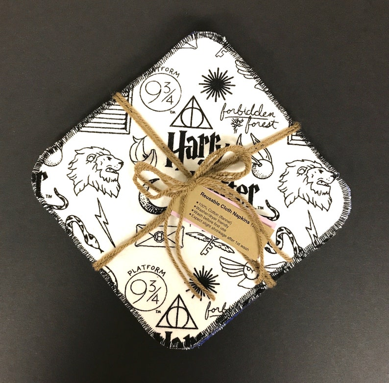 Harry Potter Double sided Cloth Square Napkins