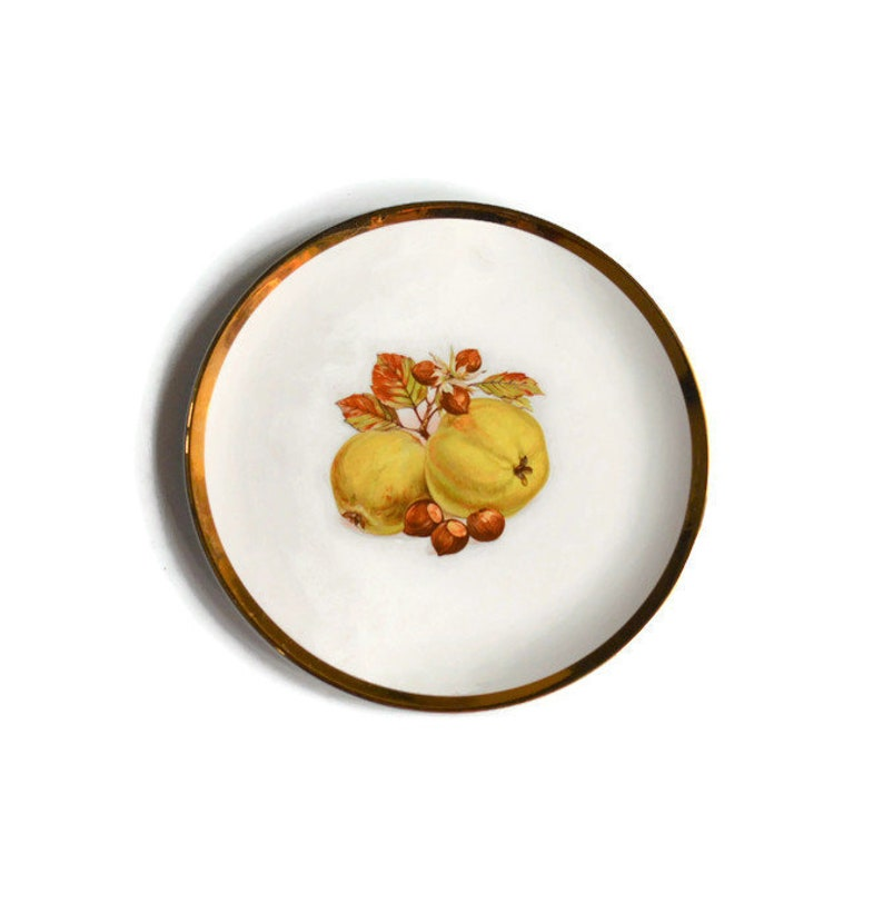Vintage Royal Winton Plate with Nuts and Yellow Apples \u2013 Beautiful Cabinet Plate or Perfect for the Table Setting