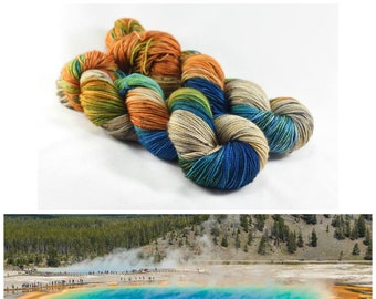 Yellowstone Grand Prismatic Hot Spring Yarn by Destination Yarn