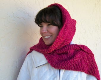 Red Hooded Scarf