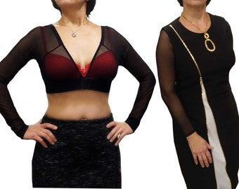"Sleeves ""to go"". Woman shrug. Sheer arm cover. Shrug. Under dress shrug. Fitted sleeves woman. Sheer top woman. Dress sleeves. Bolero shrug."