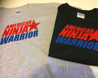 1a5f5432af4be0 American Ninja Warrior T-shirts Party favors , kids shirts