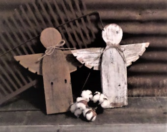 Rustic Farmhouse Angel, Shabby Chic Angel, Reclaimed Wood Angel, Rustic Christmas Decor