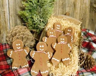 Gingerbread Man Christmas Decor, Tiered Tray Decor, Bowl Filler