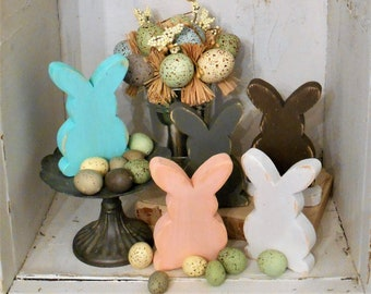 Small Wood Rabbit, Easter Decor, Bunny Tiered Tray Decor,  Wood Bunny, Easter Bunny, Easter Tray Decor