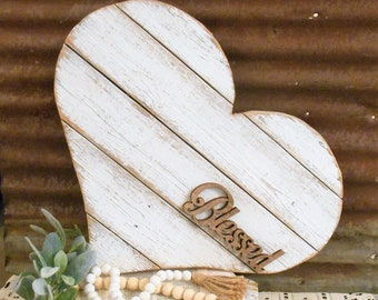 Reclaimed Wood Heart, Large Wood Heart, Wall Hanging Heart, Shabby Chic Heart, Pallet Heart
