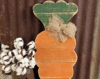 LC-Rustic Farmhouse Easter Decor, Rustic Carrot, Easter Door Hanger, Carrot Sign, Distressed Carrot Wall Hanging
