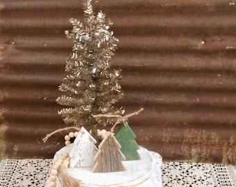 Wood Christmas Tree Ornaments, Rustic Christmas Tree, Farmhouse Holiday Decor, Rustic Holiday Decor,  Single (1) or Set