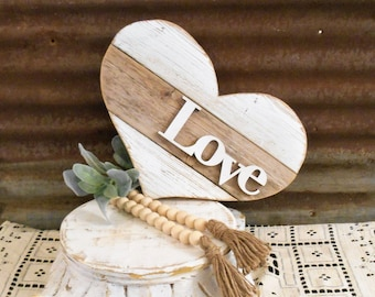 Reclaimed Wood Heart, Pallet Heart, Farmhouse Decor, Rustic Porch Decor, Love Sign, Wall Heart, Nursery Decor, Beach Decor, Rustic Heart
