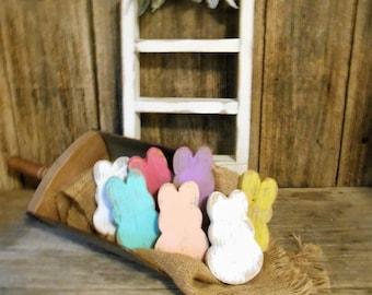 Peeps Bowl Fillers, Easter Decor, Bunny Bowl Fillers, Wood Rabbit, Wood Bunny, Easter Bunny,  Single (1) or Set