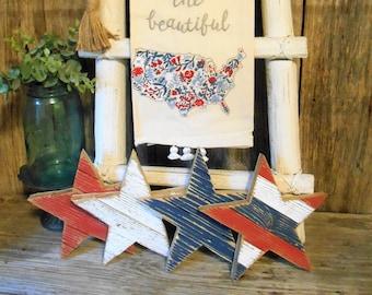 Rustic Wood Star, Patriotic Decor, Farmhouse Decor, Memorial Day Decor, July 4th Decor, Pallet Star, Rustic Porch Decor