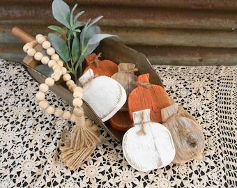 Rustic Wood Pumpkin, Fall Decor, Tiered Tray Pumpkin, Fall Bowl Filler